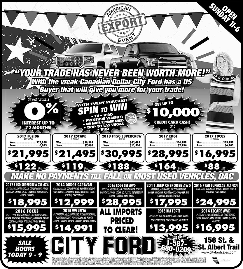 City Ford Newspaper Ad