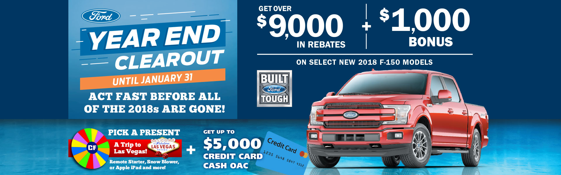 Edmonton Ford Year End Clearout Event F-150 Truck Sales