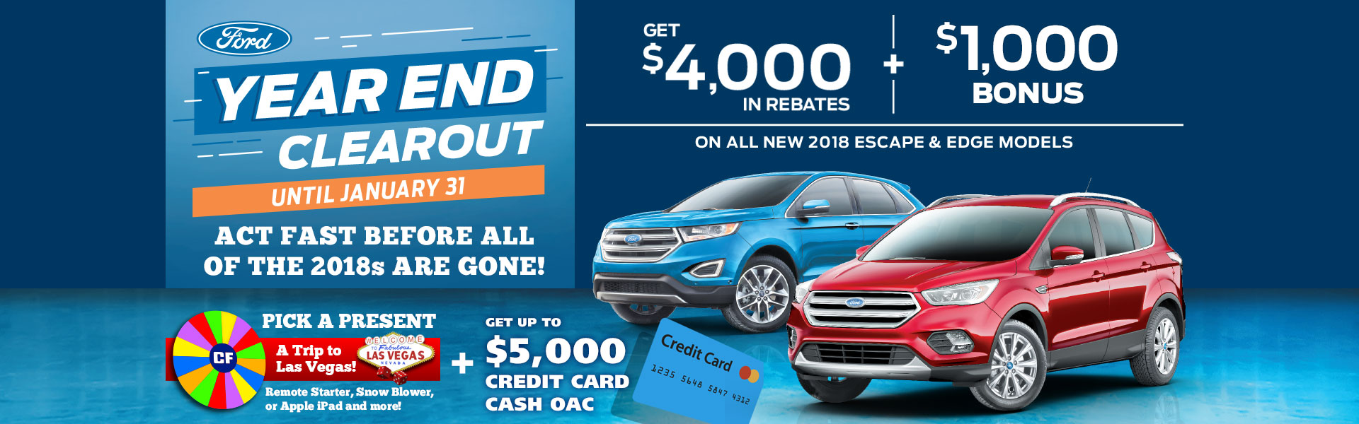 Edmonton Ford Year End Clearout Event SUV Sales