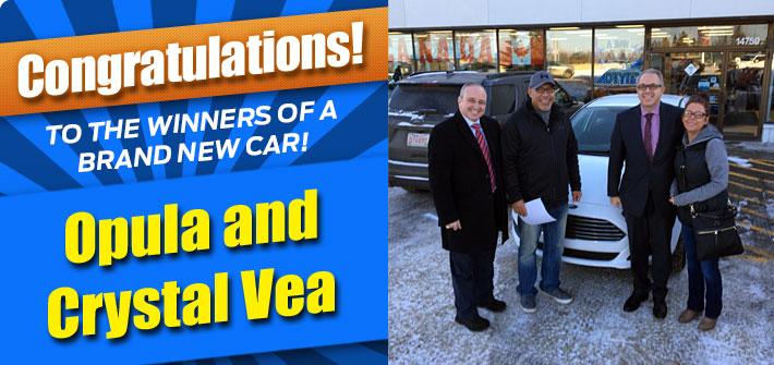 Brand New Car Winner!