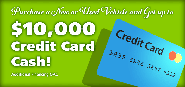 $10,000 Credit Card Cash!
