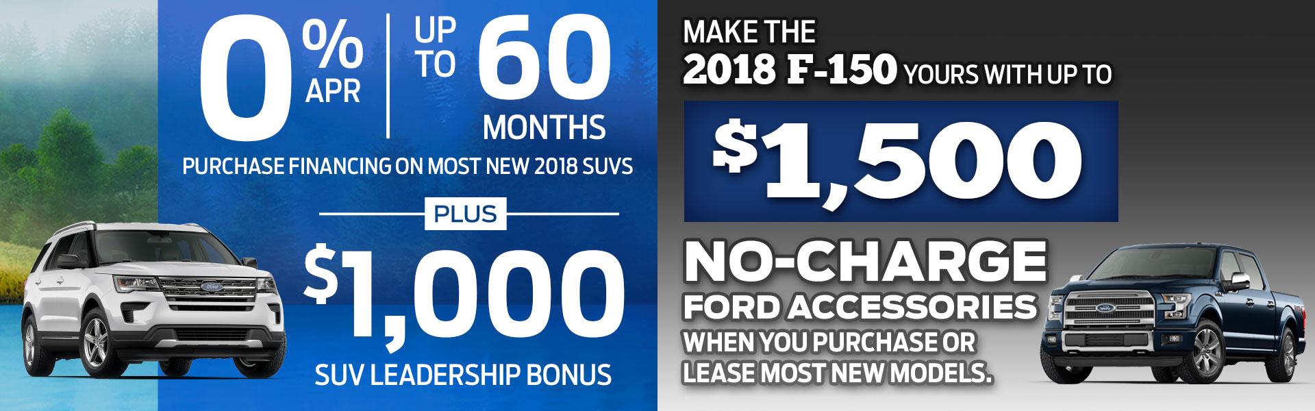 Ford SUV and F-150 Sale