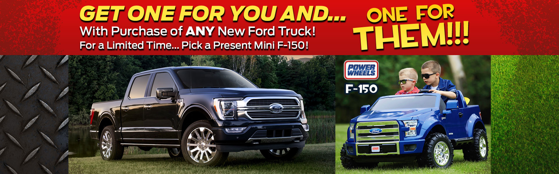 Get a Mini F-150 with New Ford Truck Purchase!