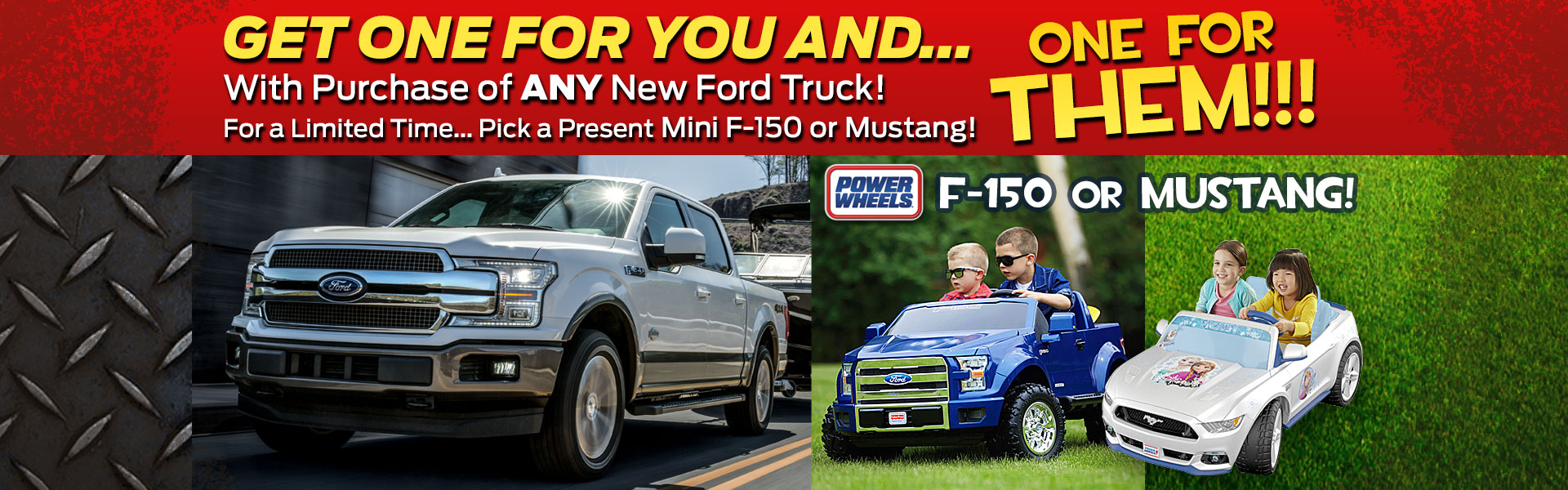 Get a Mini F-150 or Mustang with New Ford Truck Purchase!