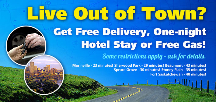 Out of Town Delivery or One-night Hotel Stay!