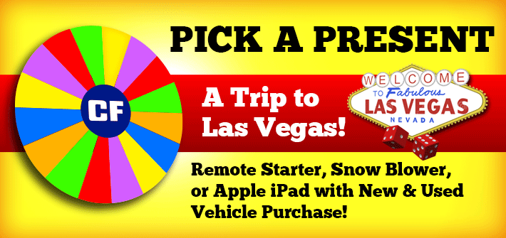 Pick A Present with New & Used Vehicle Purchases!