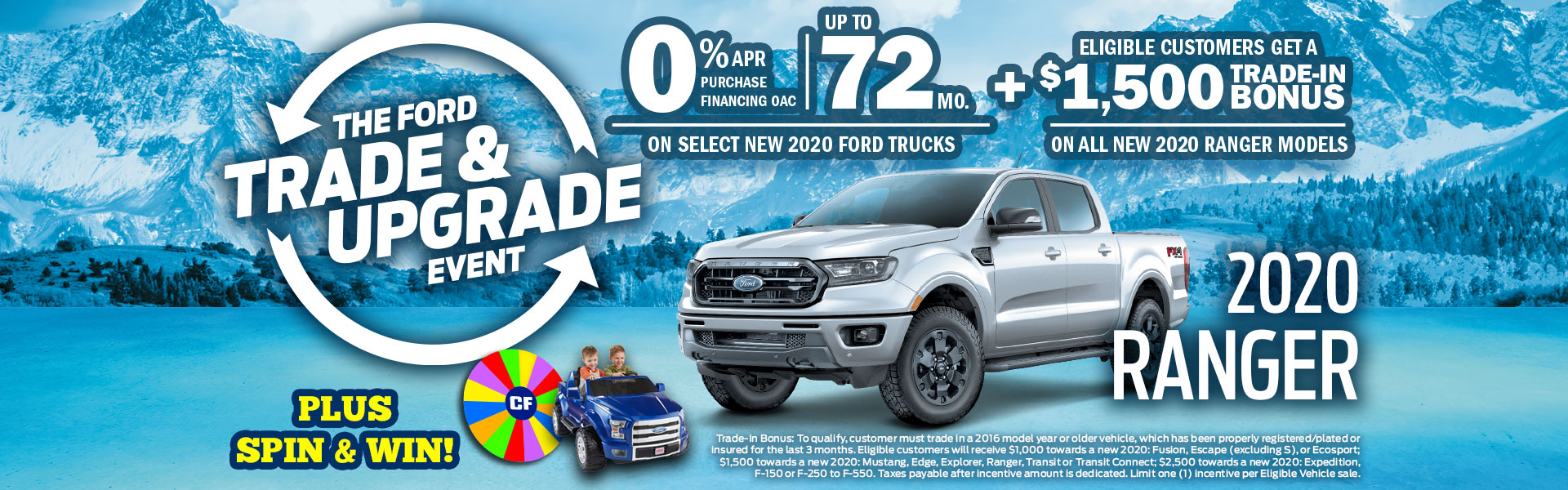 Ford Trade & Upgrade Event Ranger Sale