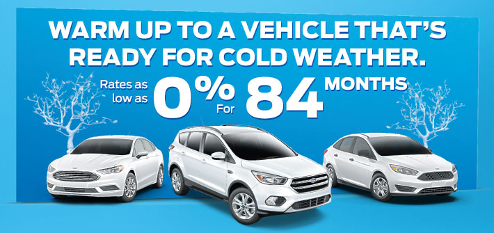 0% Financing for up to 84 Months on most new ford vehicle sales!